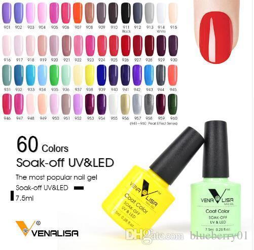 Hot 10pcs/lot Gel Nail Polish Venalisa Gel Soak Off UV LED Color Polish  Nail Art Gel Nail color Polish