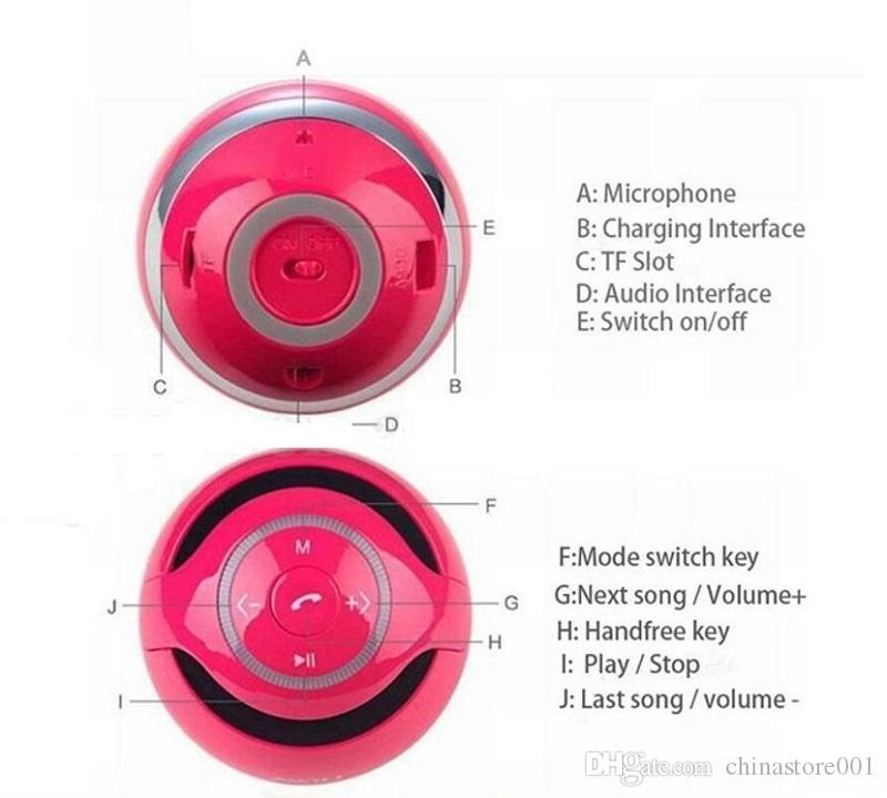 Portable Mini Bluetooth Speaker Cheap YST-175 Round LED Wireless Stereo Speakers Support TF Card Answer Call FM Radio MP3 Player Update C6