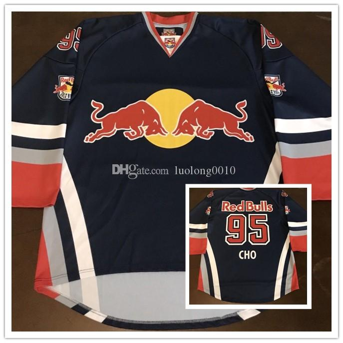 2a8cf2919 2019 Rare Bull Salzburg Cho Hockey Jersey Stitched Customized Any Name And  Number Jerseys From Luolong0010