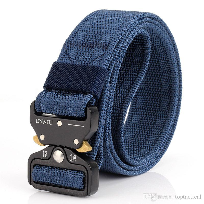 New High Quality Outdoor Sports Nylon Embossed Cobra Tactical Combat Belt Multifunctional Vertical Drop Rescue Army Duty Belt