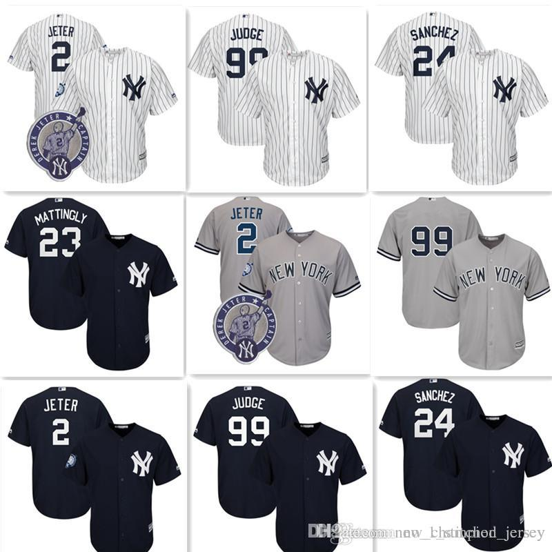 29af3b6bbd4 New York Yankees 99 Aaron Judge Jersey Cheap 2 Derek Jeter 24 Gary ...