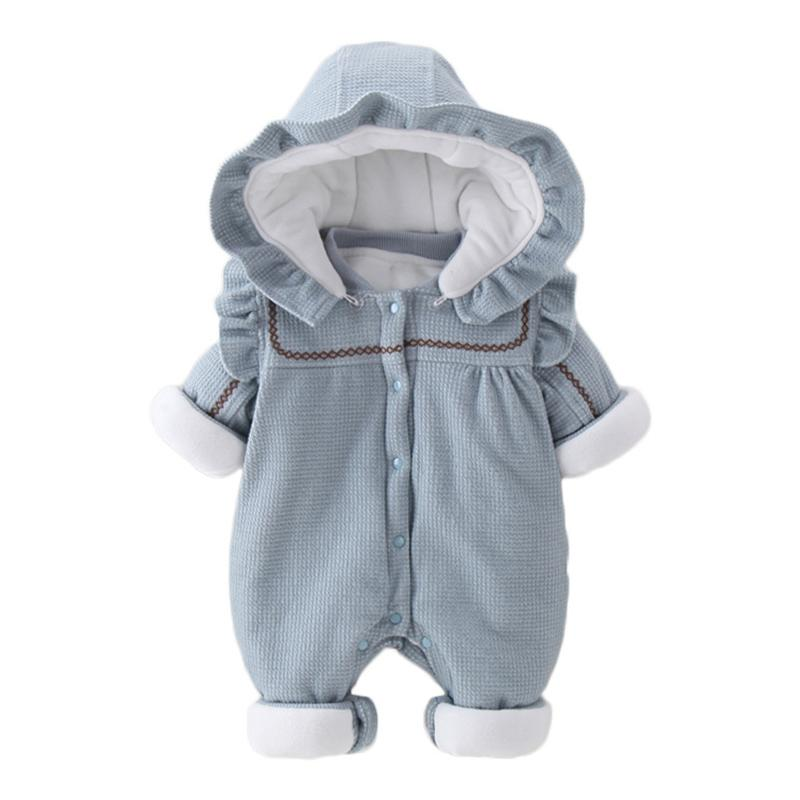 Offizielle Website Los Angeles größter Rabatt Warm Baby Knitted Romper Fleece Overalls Newborn One Piece Outfits Long  Sleeve Girl Winter Thick Clothes Hooded Toddler Jumpsuit