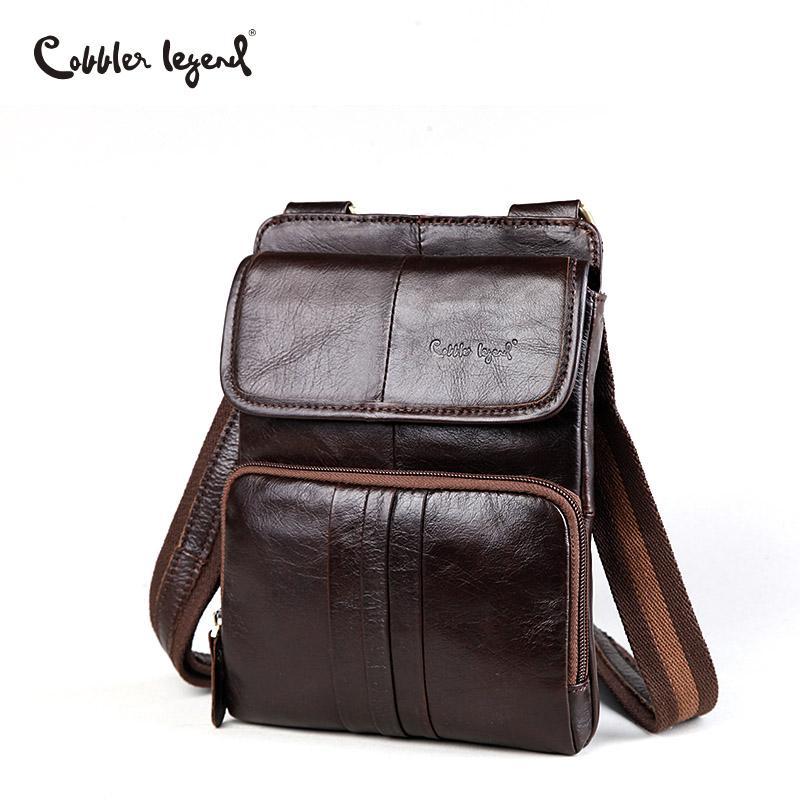 507633a94083 Cobbler Legend 2017 Cow Genuine Leather Casual Shoulder Men Messenger Bags  For Men Travel Leather Handbags Mini Bag Coffee Hobo Purses Ladies Purses  From ...