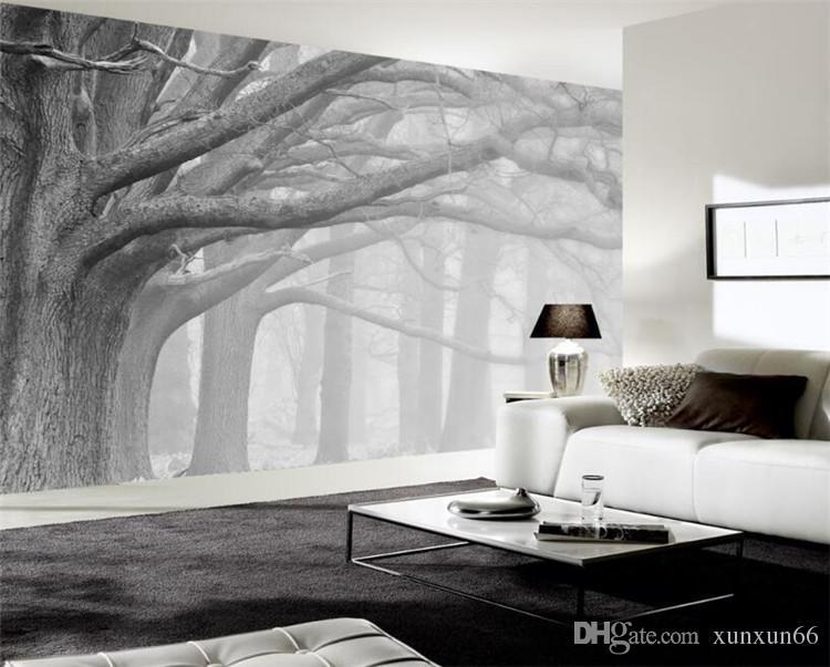 3d wallpaper living room bedroom murals modern black and - Wallpaper one wall in living room ...