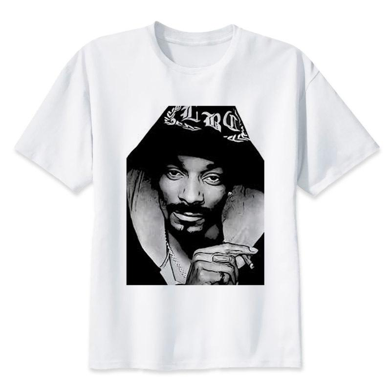6da0e138e4632 Leqemao Snoop Dogg T Shirt Men 2017 Summer Fashion Tshirt Casual White  Print T Shirt For Male Comfortable Boy Top Tees Mr2917 T Shirts Vintage T  Shirts Sale ...