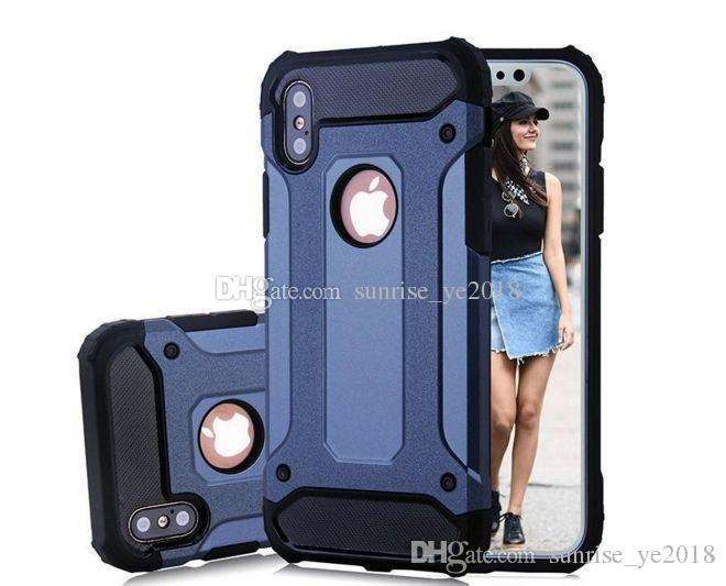 Hybride Armure Cas Pour iPhone X 7 7 Plus 6 S 6 s Plus pour Samsung Note8 S8 S8 Plus S7 TPU PC Hybride Housse de Protection
