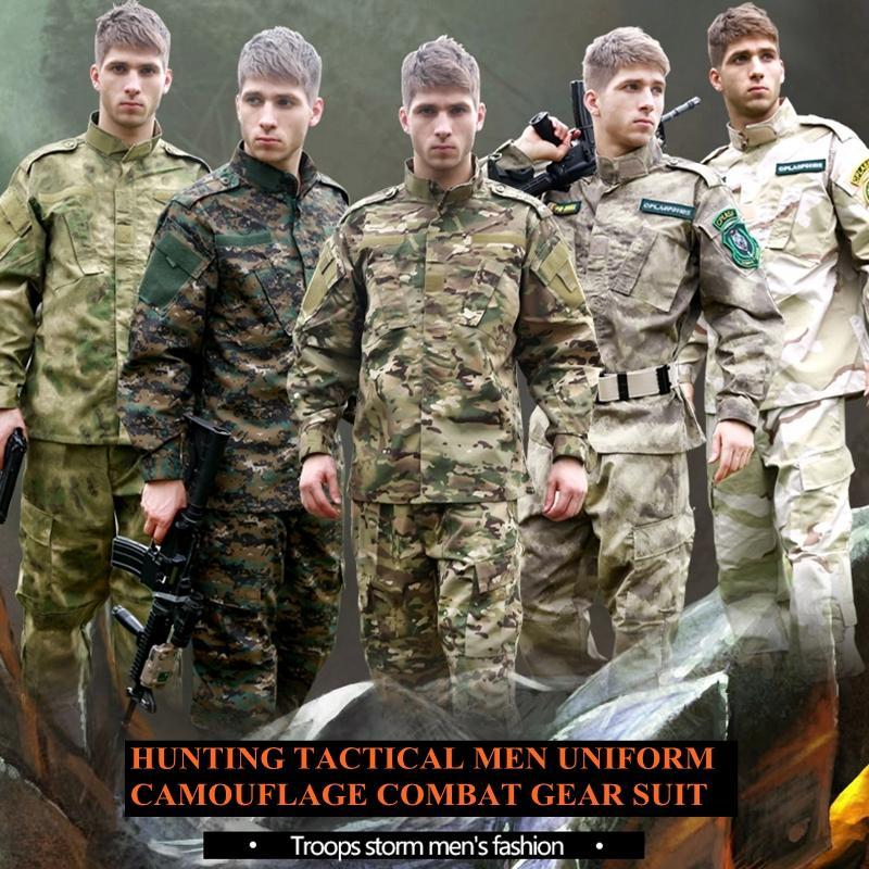 U S Army Multicam Camouflage suit Tactical combat uniform -jacket pants men  army uniform