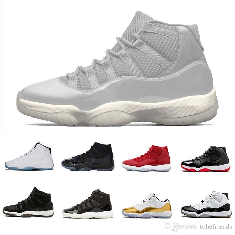Platinum Tint 11 Men Basketball Shoes Grey Cap And Gown Prom Night Win Like  82 96 Gym Red Space Jam 45 Concord Bred 23 11s Xi Women Us5.5 13 Sports  Shoes ... 8a9e060d8ba8