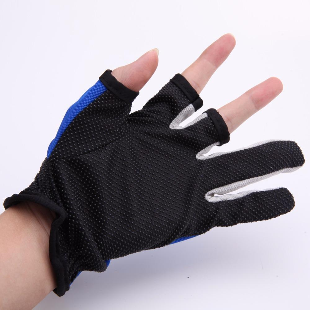 2019 Anti Slip 3 Low Cut Fingers Gloves Fishing Gloves Tackle Finger