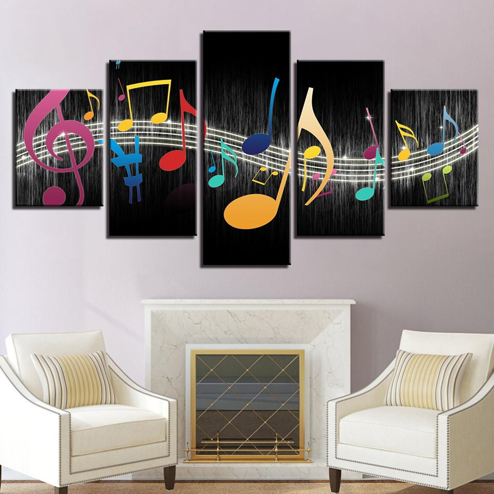 2019 modular canvas pictures living room wall art home decor framework color music notes paintings modern hd prints poster from z793737893 8 62 dhgate