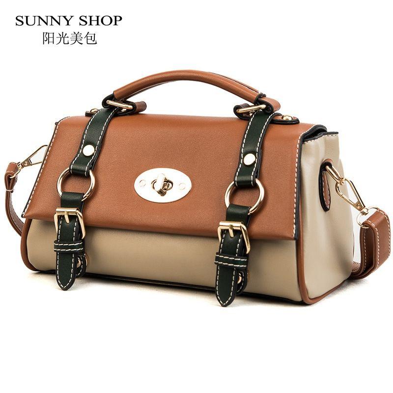 f8a59cd4fe15 SUNNY SHOP Vintage Preppy Women Handbag And Purse Small Tote Bags ...