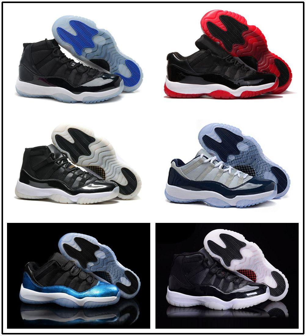 Acquista Nike Air Jordan Aj11 Concord High 45 11 XI 11s Cap And Gown PRM  Heiress Gym Red Chicago Platinum Tint Space Jams Uomini Scarpe Da Basket  Sportive ... a57a961c240