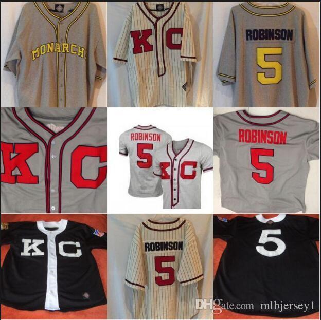 Men's #5 Jackie Robinson Kansas City Monarchs Negro League Throwback Retro  Baseball Jersey Embroidery Jerseys Retro Jerseys Throwback Baseball Jersey  Online ...