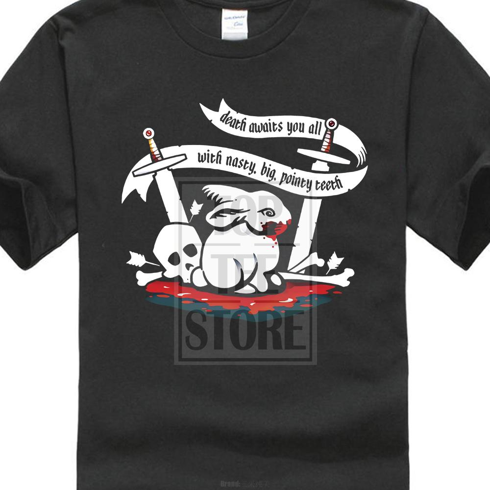 62d18a84897 2018 New Summer Casual T Shirt Holy Grail Killer Rabbit Death Waiting For  You All Monty Python Knight Casual Tee Shirt Buy Online T Shirts Make Tee  Shirts ...