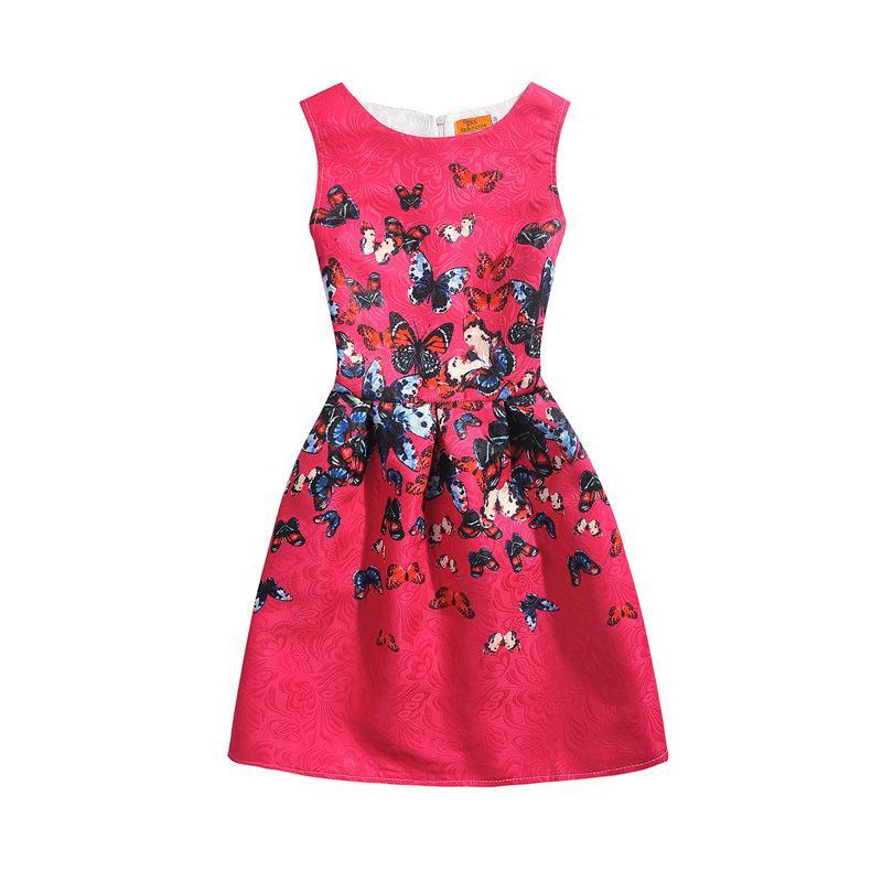 Girls Summer Dresses 2018 Girls Dress Unicorn Printed Kids Dresses for Girls Clothing Princess Costume Child Teenagers 5-12 Yrs