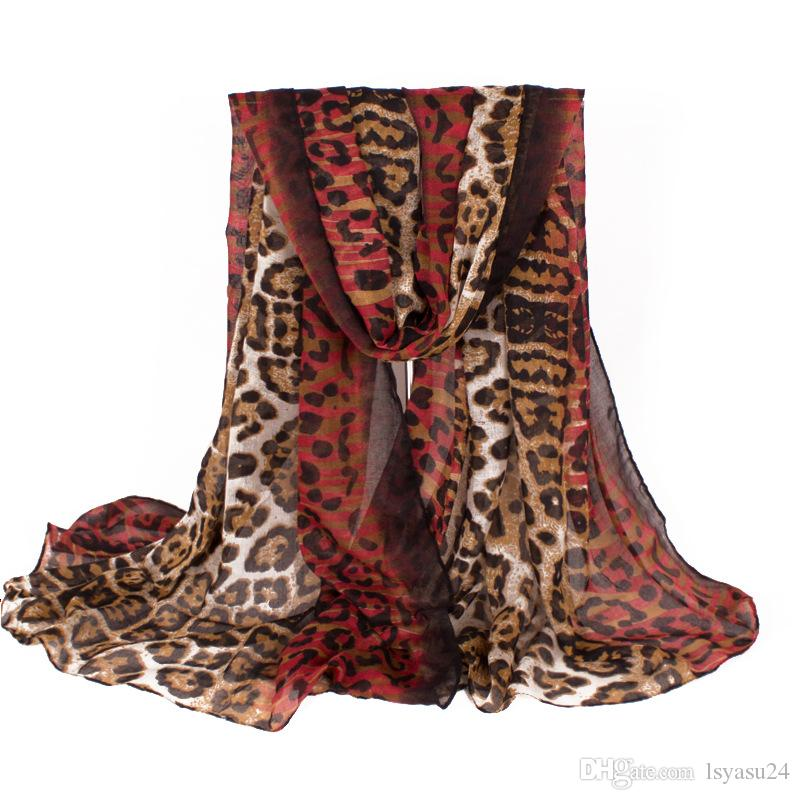 New Fashion Red Leopard Print Long Ladies Scarf Style Special Design