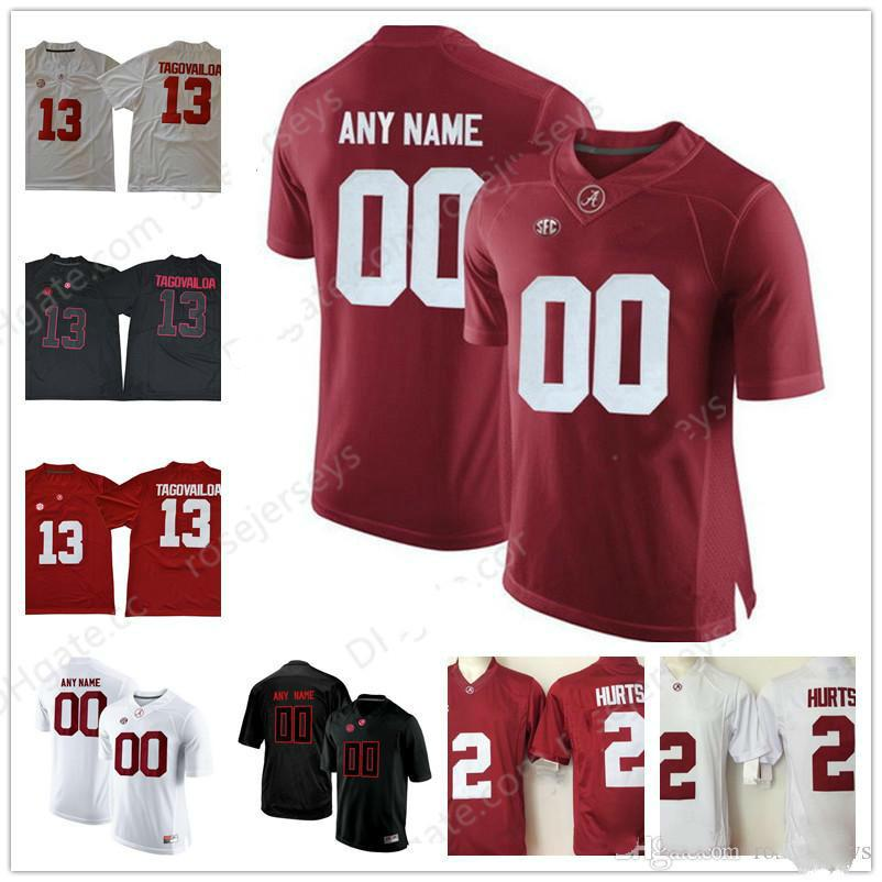 899e781e3 2019 Custom Alabama Crimson Tide College 2 Jalen Hurts Football Jersey  Personalized Stitched Any Name Number Mens Youth Black Red White Jersey  From Buy366
