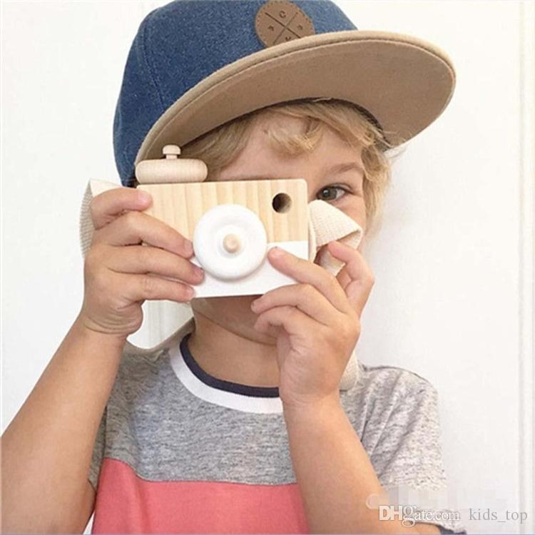 Lovely Cute Wooden Cameras Toys For Baby 8 colors Kids Room Decor  Furnishing Articles Child Birthday Gifts Nordic European Style LA607-2
