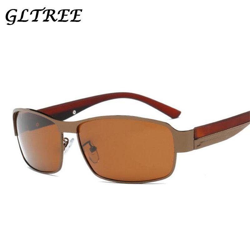 Compre Gltree 2018 Gafas De Sol De La Marca De Los Hombres De Aluminio Retro  + Lente Polarizada Tr90 Gafas Vintage Accesorios Gafas De Sol Para Hombres  ... ef22449f8866