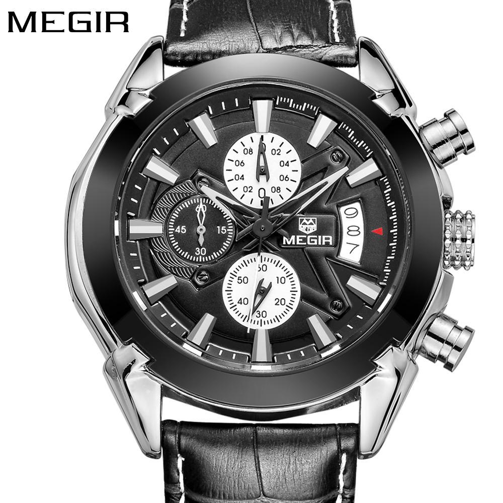Großhandel Megir Top Marke Sport Uhr Herren Uhren Chronograph Mode