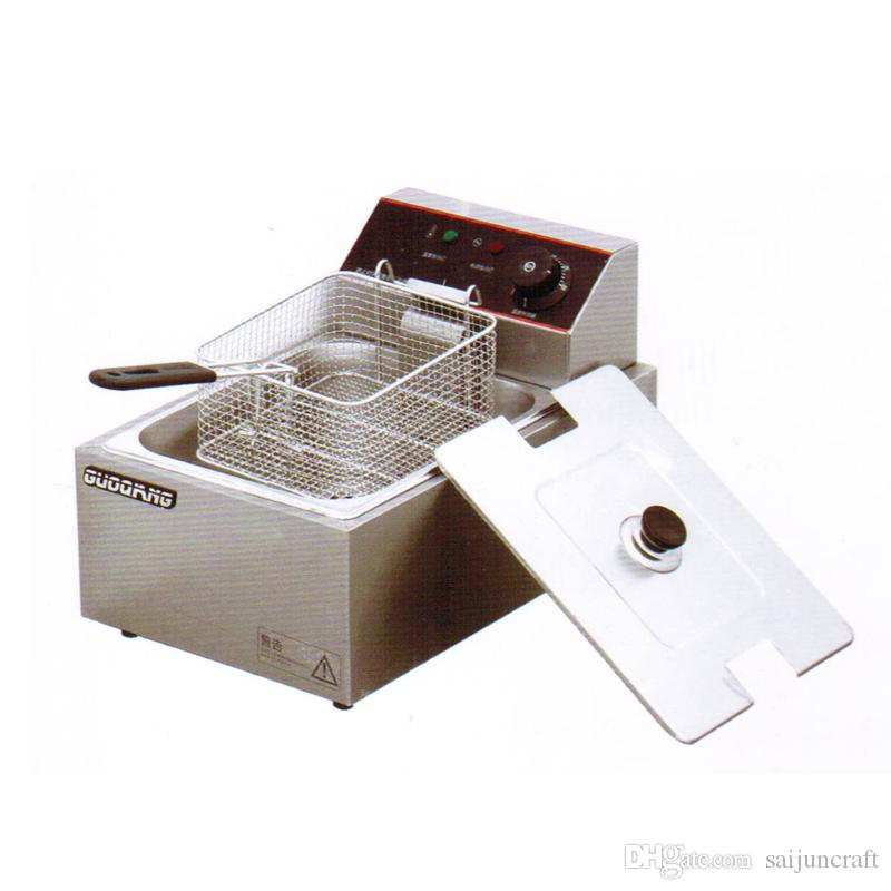 Stainless steel kitchen equipment for fried chicken with fried chicken in single bar and double sieve no4