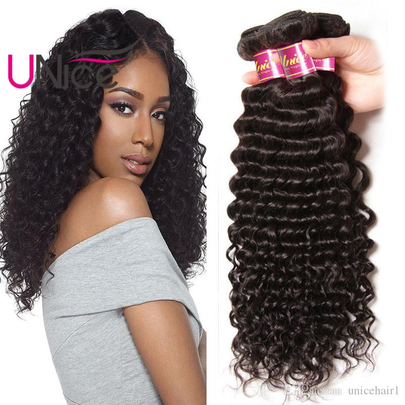 Unice Hair Malaysian 8a Remy Deep Wave 5 Bundles Unprocessed Virgin