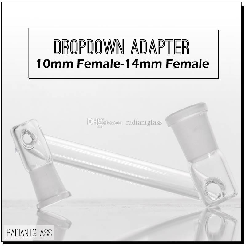 """Drop down adapter for hookahs reclaimer 3.5"""" Male to Female 10mm/14mm/18mm Dropdown oil rigs"""