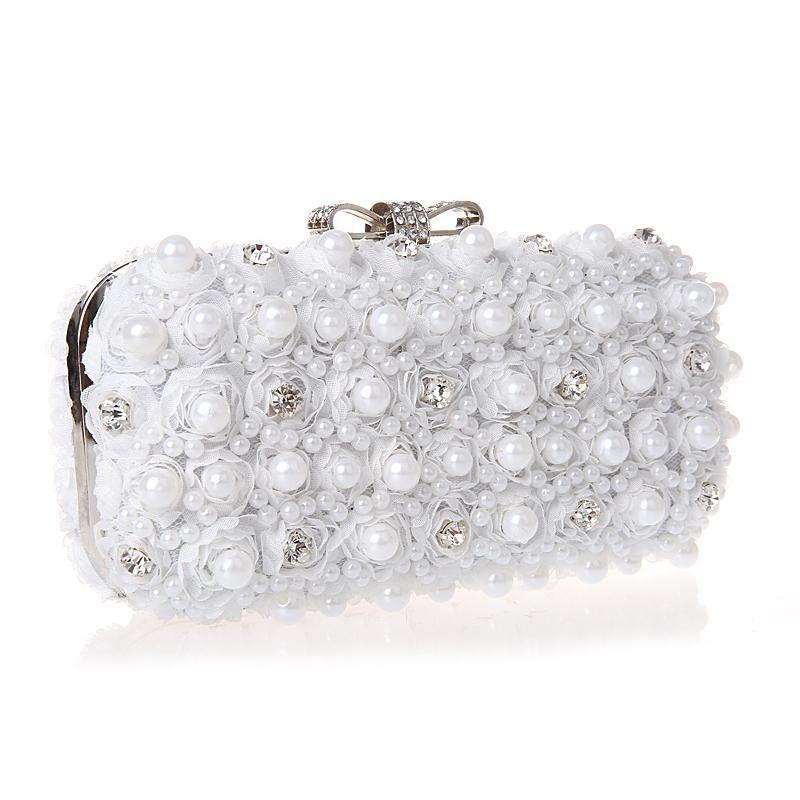Black White Pearl Clutch Purse Rhinestone Dinner Party Bridals Wedding Bags  Diamond Evening Bags High Grade Blosa Sac A Main Y18103004 Wholesale  Handbags ... 36c3c69be3a7