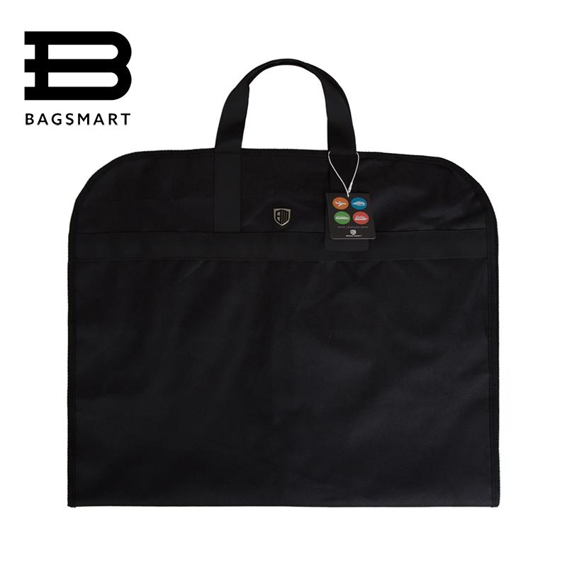 eee28d5b6e3b BAGSMARTLightweight Black Nylon Suit Bag Business Dress Garment Bags With  Hanger Clamp Waterproof Suit Bag Men s Travel