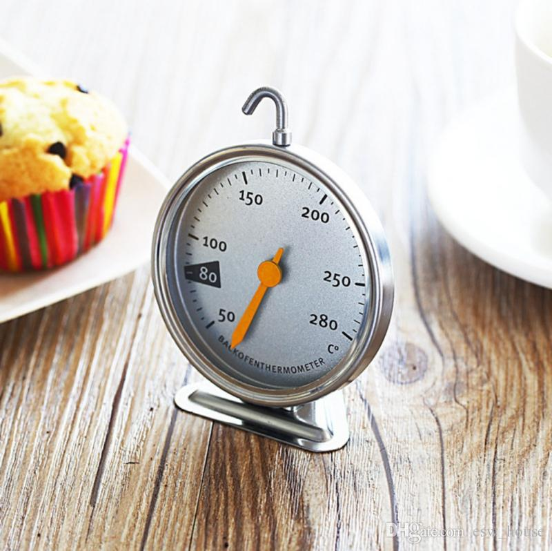 New Stainless Steel Baking Tools Kitchen Oven Thermometer Food Meat Dial Oven Dedicated Mechanical Baking Thermometer 50-280 Degrees