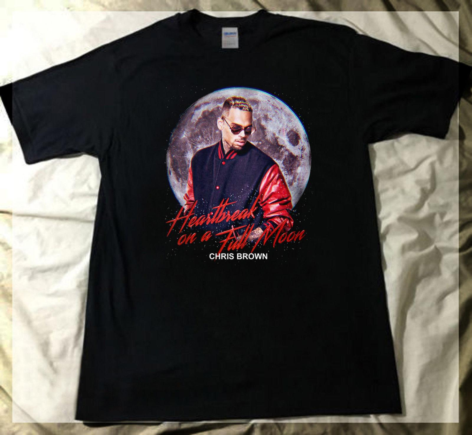 73a889ebc9ea Limited Chris Brown Heartbreak On A Full Moon Tour Dates 2018 T Shirt Print Short  Sleeve Men Top Novelty T Shirts Men S Brand Clothing Shirt And Tshirt ...