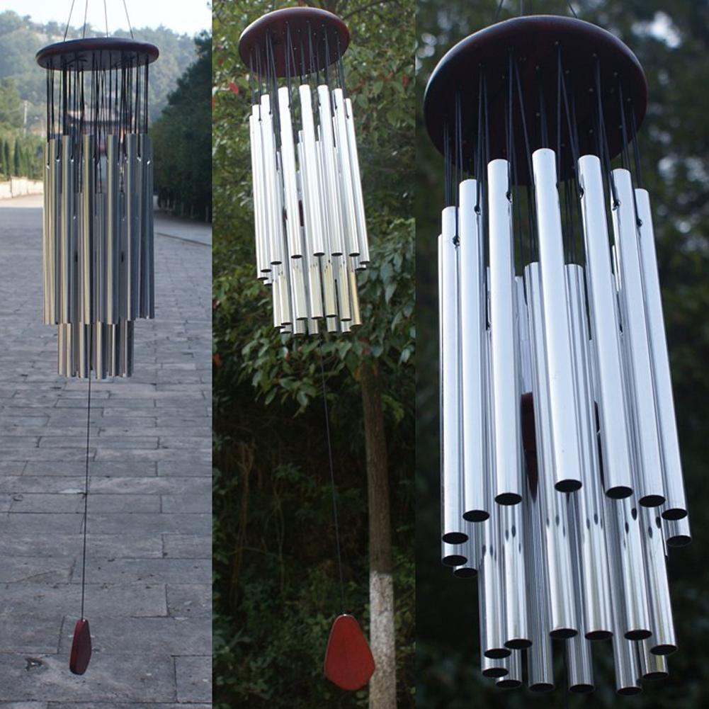 Hängend 3-Rohr Metall Glocke Windspiel Feng Shui Haus Garten Dekor