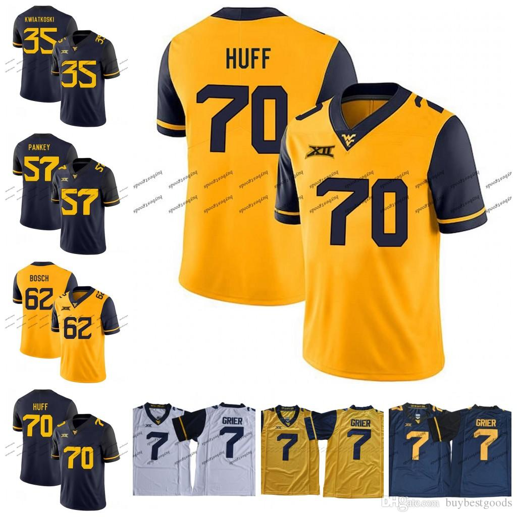 low priced 00acd 6b85d Custom NCAA West Virginia Mountaineers WVU 70 Sam Huff 57 Adam Pankey 62  Kyle Bosch 35 Nick Kwiatkoski College Football Jerseys