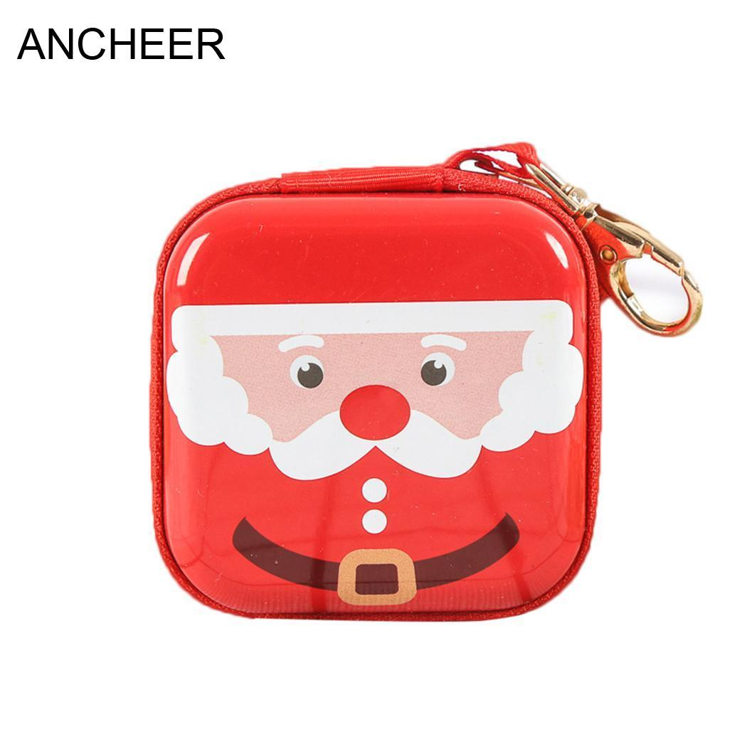 Fashion Zipper Coin Lady 6 Portafoglio Poliestere Casual Square Girls Borsa New Tipi Cartoon Nessuno Money Women Bag Christmas