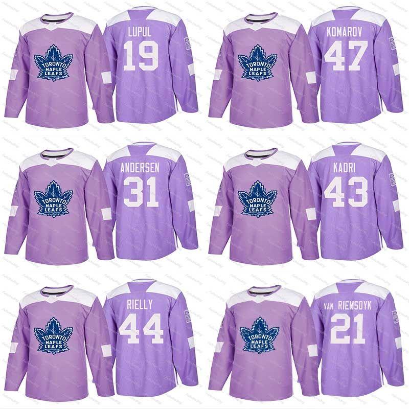 new product 3d112 c9c49 2018 Fights Cancer Jersey Patrick Marleau Matt Martin James van Riemsdyk  Josh Leivo Dominic Moore Toronto Maple Leafs Custom Hockey Jerseys