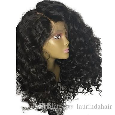 Human Hair Lace Front Wig Brazilian Hair Curly Jerry Curl With Baby Hair 150% Density Unprocessed 100% Virgin Natural Hairline Short