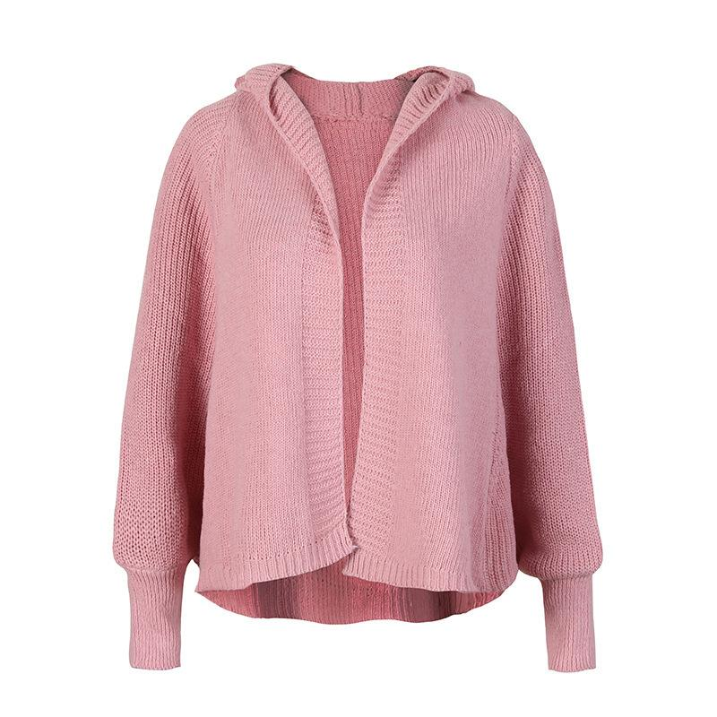 ad830b51118697 2019 Pullover Lycra Real Jumper 2018 New Pattern Out Of Tide Autumn  Clothing Hat Cardigan Fund Woman Sweater Knitting Loose Coat From Mangcao