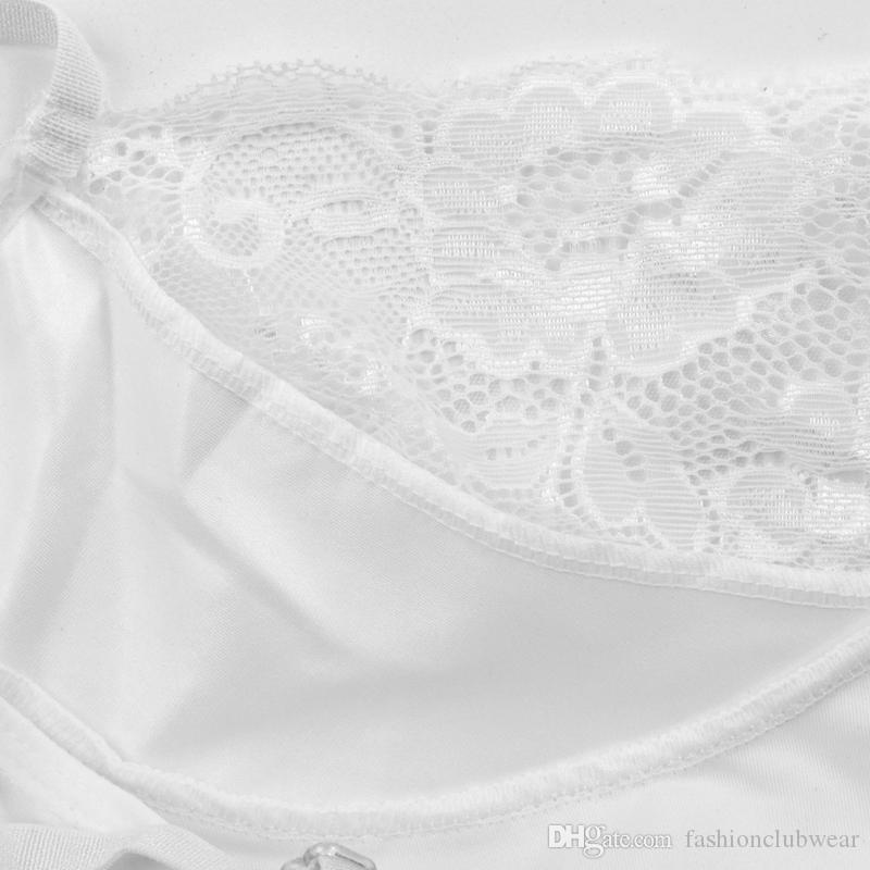 Mulheres Pure White Lace Completa Deslizamentos Transparente Malha Nightdress Camisola Encantador Slings Babydolls Verão Sleepwear Plus Size