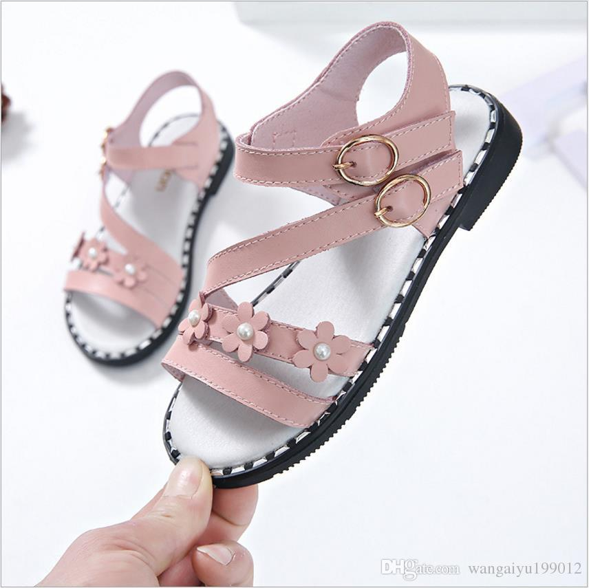 Children S Sandals 2018 Summer New Flowers Soft Bottom Baby Sandals Girls  Korean Princess Shoes Toddler Leather Cheap Shoes For Kids Online Kids  Shoes ...