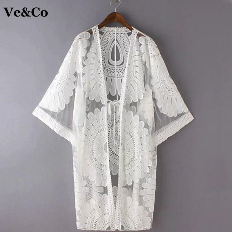 cd16614b05 2019 2018 Pareo Beach Cover Up Floral Embroidery Bikini Cover Up Swimwear  Women Robe De Plage Beach Cardigan Bathing Suit Cover Ups From Acore