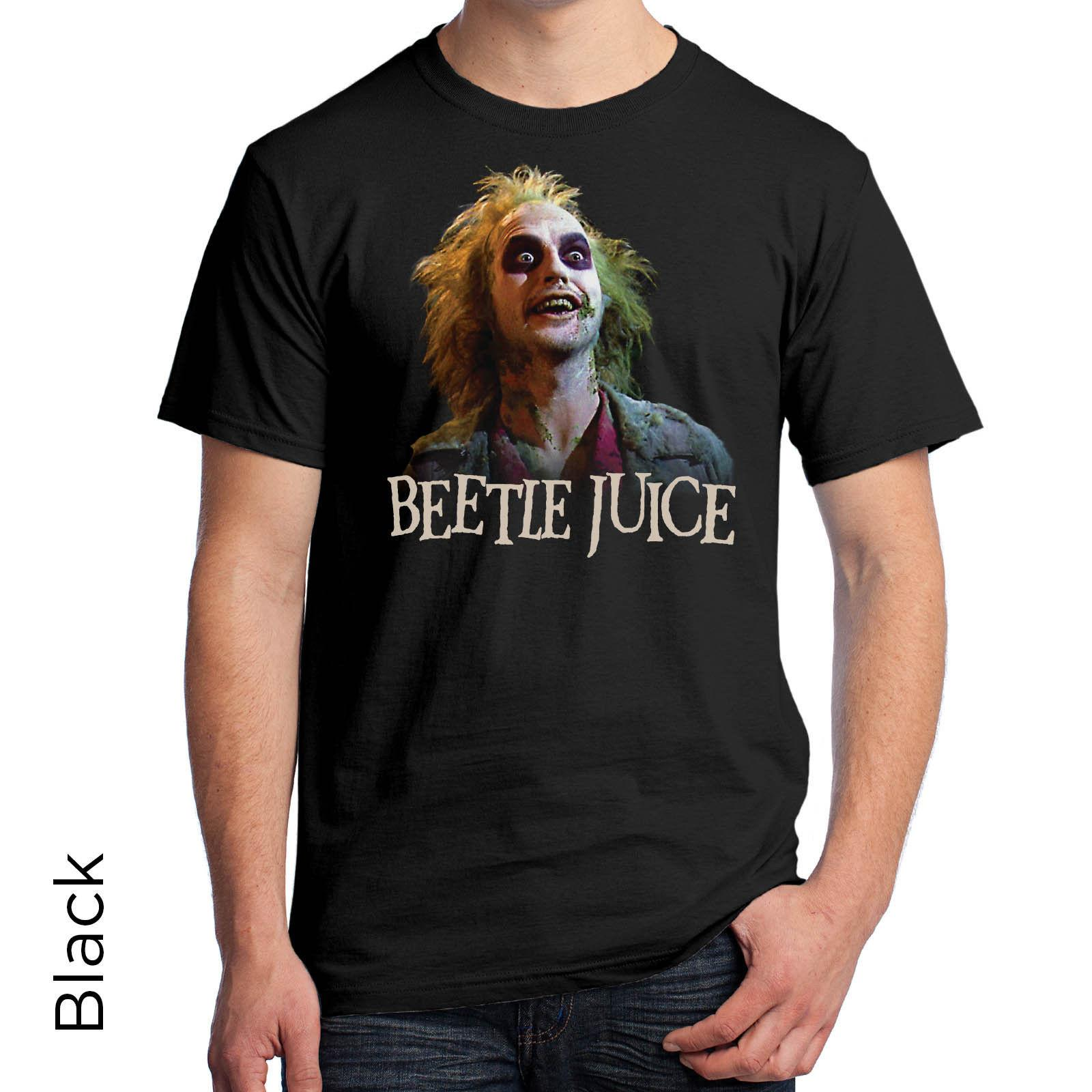 2197ca4ceb90 Beetlejuice Graphic T Shirt Full Color 80s Tim Burton Michael Keaton 288  Funny Unisex Casual T Shirts Funky Tee Shirt For Sale From  Afterlightclothing, ...