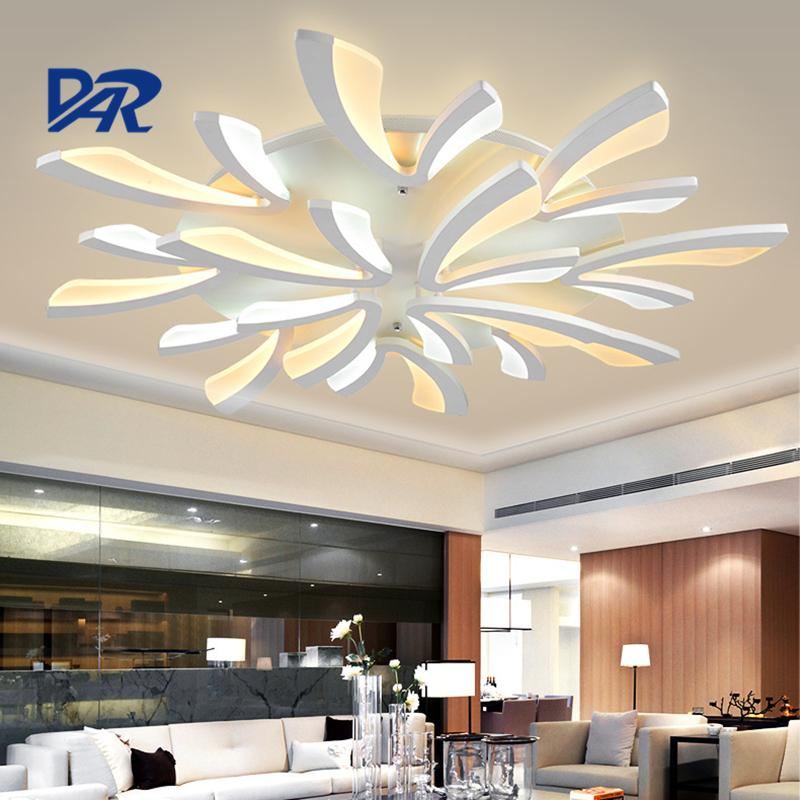 Acquista Fashion White Acrylic Ceiling Lamp 3/5/9/12 Heads Modern ...