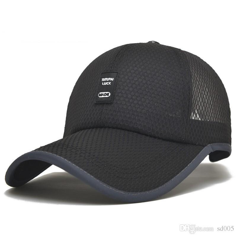 Summer Baseball Caps Solid Color Men Women Mesh Hats For Outdoor ... 50aa5f0717c5