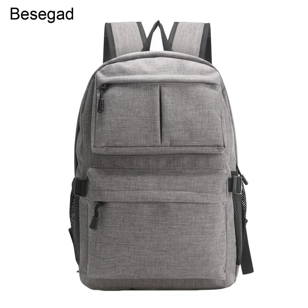 3c56b8f8af 2019 Besegad Men Business Travel USB Charging Laptop Computer Backpack  Mochila Bag Pouch For Macbook Ipad Tablet 16 Inch Accessories From  Computerpc