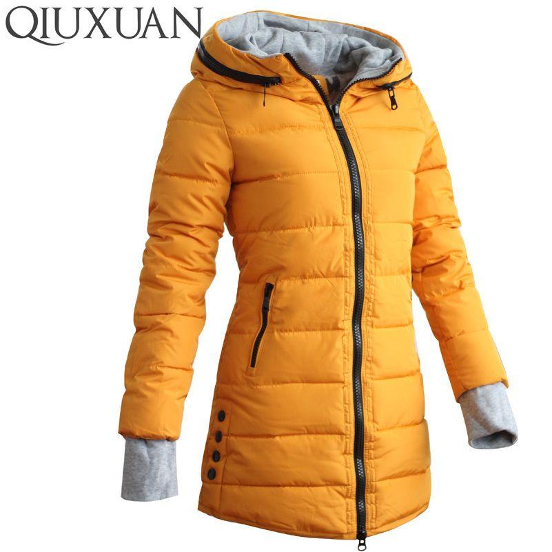 dcfa5c1eac 2019 Warm Winter Jackets Women Fashion Down Cotton Parkas Casual Hooded  Long Coat Thickening Zipper Slim Fit Plus Size Long ParkaY1882402 From  Zhengrui06, ...