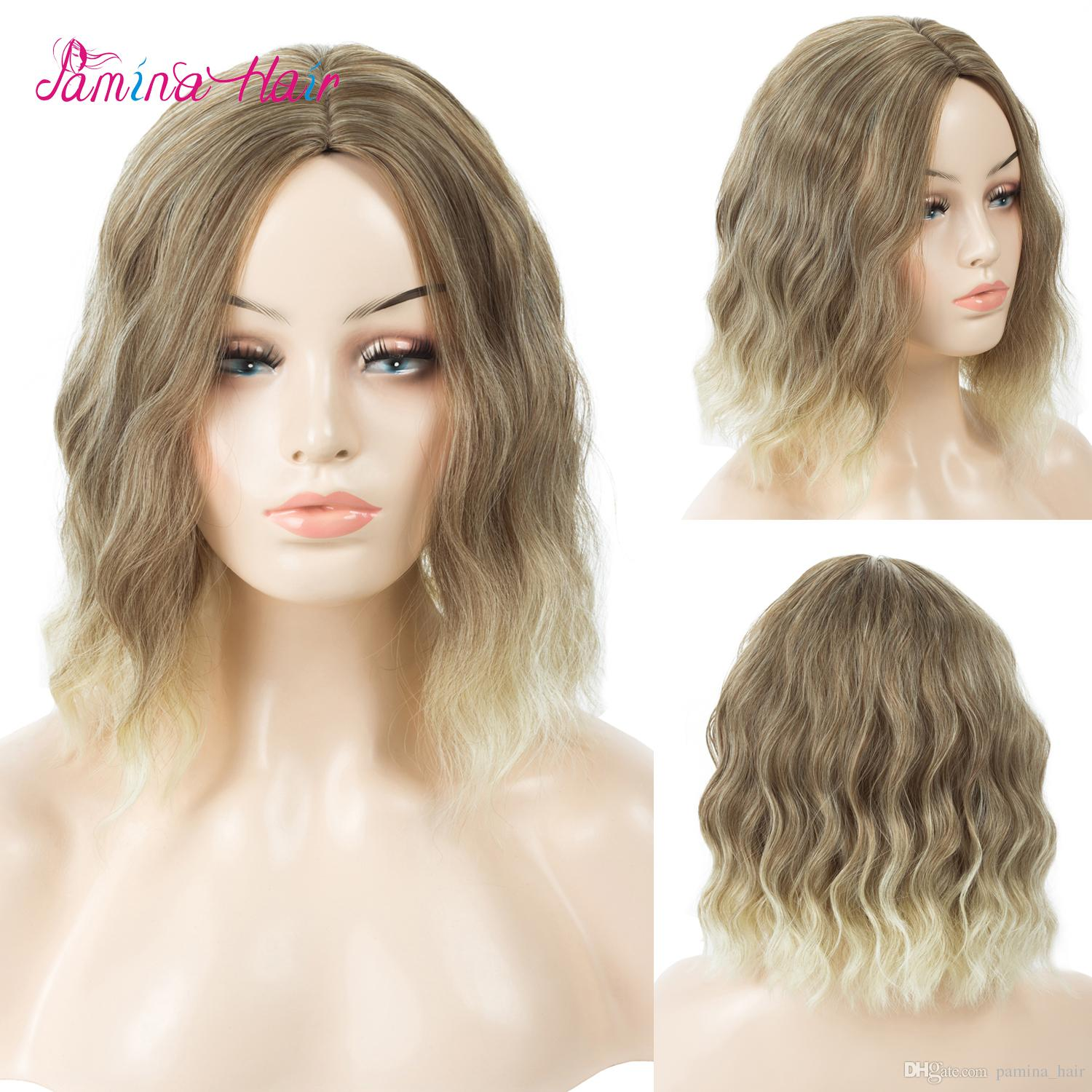 Ombre Color 27p613 Short Curly Wavy Synthetic Hair Machine Made Wigs Two  Tone Cosplay Daily For Women Heat Resistat Wigs 27 613 Fun Wigs Lace Front  Wigs ... c2a310145