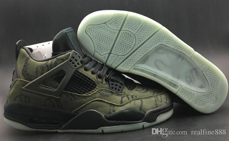 3428f5273be4d3 DHL 5A Quality Model 4 756395 Kaws XX Men Basketball Shoes Sports ...