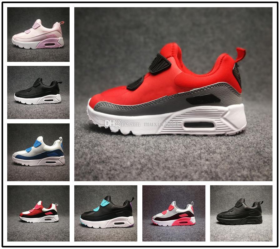release date cd448 c5621 Acheter Nike Air Max 90 Airmax Bébé Enfants Sneakers Chaussures Classique 90  Jeunes Garçons Filles Enfants Chaussures De Course Noir Blanc Trainer  Coussin ...
