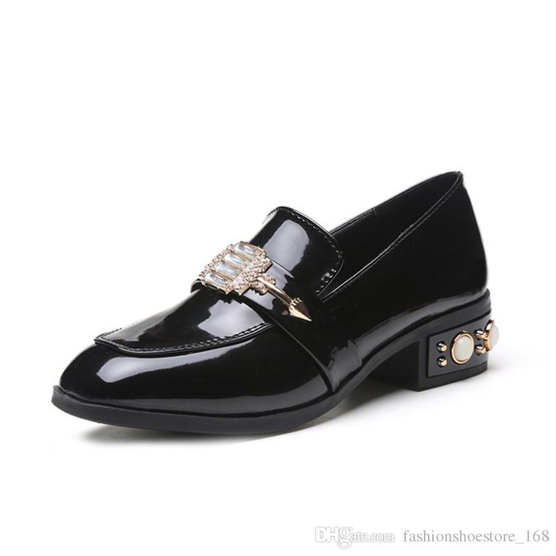 7a6352a2a0 Low Heel Shoes for Women Elegant Wedding Shoes Women Pumps Escarpins Femme  2018 sexy Black Kitten Heels Ladies Bridal Party Lolita Shoes