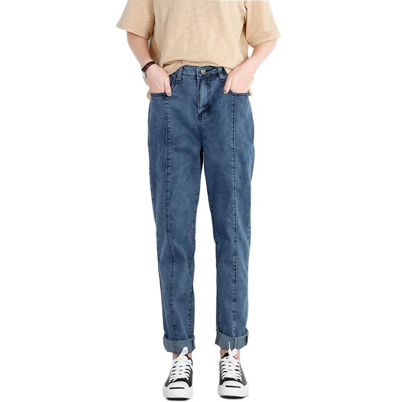 ba4d9a03e1f15 NEW 2018 Spring Jeans Woman Denim Blue Long Pants High Waist Jeans ...